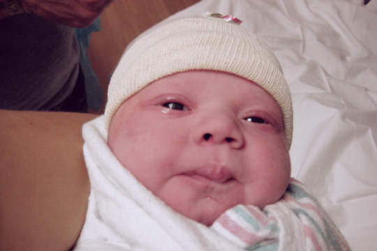 Just born and wrapped up like a love burrito.